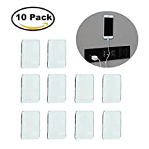 Universal Non-Slip Mats, Fixate Sticky Anti-Slip Gel Pads Rectangle Clear, Multi Usage Stick to Glass, Mirrors, Whiteboards, Metal, Kitchen Cabinets, Tile (Set of 10)