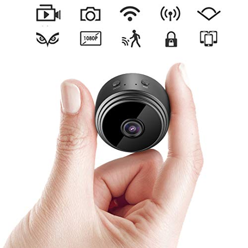 WiFi Hidden Camera-Night Vision 5 Yards HD 1080p Remote Cam Mini Spy Camera with Motion Detection in All Scenes View by Android/iPhone