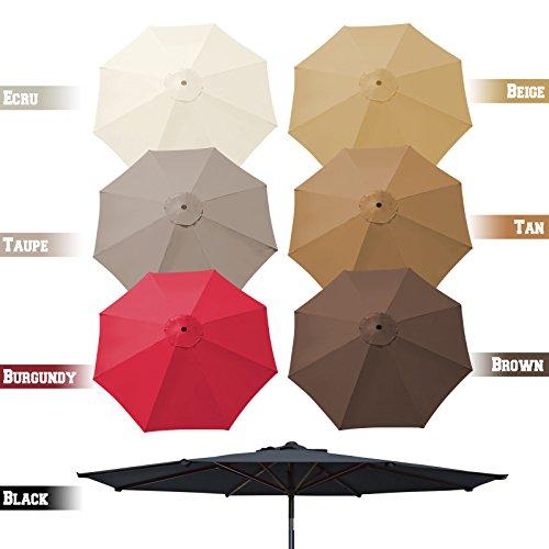 BenefitUSA Umbrella Cover Canopy 9ft 8 Rib Patio Replacement Top Outdoor- Beige