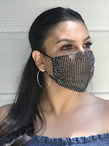 Leg Avenue Women's Rhinestone Fashionable Face Mask