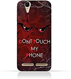 Sony Xperia T2 TPU Silicone Case With Don't Touch My Phone 3 Design