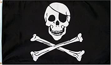 pirate skull and crossbones flag 3 foot by 5 foot polyester