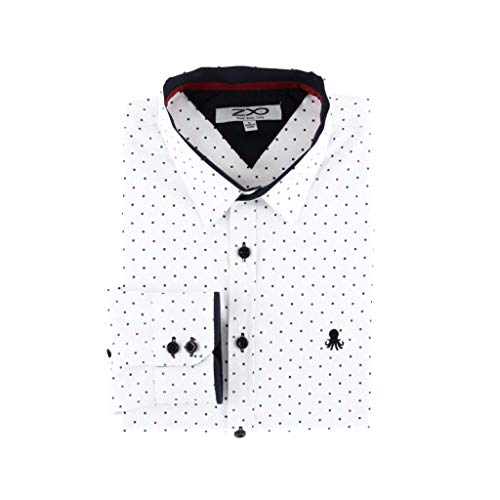 Z8 Kyle - Polka Dot Dress Shirt White