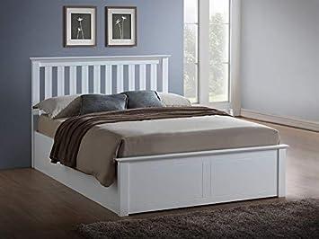 Cool Birlea Phoenix 50 King Size Ottoman Bed In White Amazon Co Forskolin Free Trial Chair Design Images Forskolin Free Trialorg