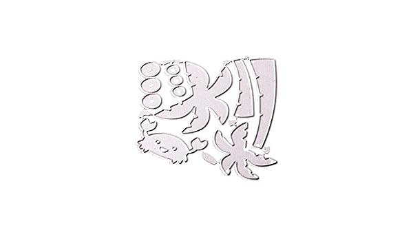 OYSOHE2018 - Plantilla de troquelado para manualidades, álbum de recortes, tarjetas, plantillas de manualidades, acero al carbono, plata, E: Amazon.es: ...