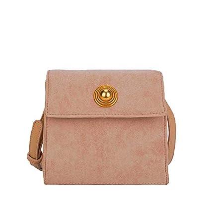 e2128c968cdb Amazon.com: Shoulder Bag Pearl Buckle Retro Suede Practical Handbag ...
