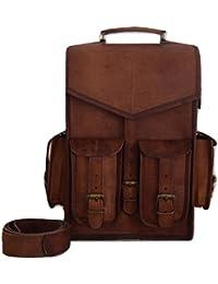 Vintage Bag Leather Handmade Vintage Style Backpack/College Bag