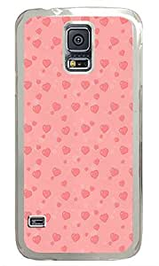 Samsung Galaxy S5 Saint Valentines Hearts Love Pattern644 PC Custom Samsung Galaxy S5 Case Cover Transparent