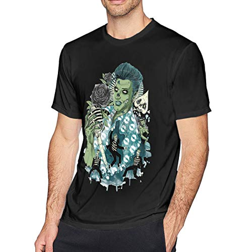 T-shirt Black Classic Elvis - nluhao Mens Classic Elvis T-Shirt 3XL Black
