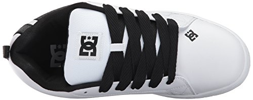 DC Sneaker Shoes Uomo White COURT Charcoal SHOE GRAFFIK frfwRBq