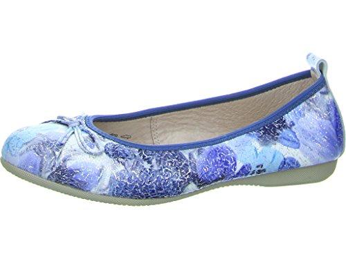 La Ballerina 227-87-60016, Ballerines pour Femme Bleu Foncé