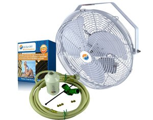 Outdoor Misting Fan   18u0026quot; Mist Cooling Fans ...