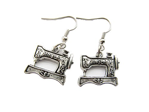 Sewing Maching Vintage Inspired Charm Earrings,silver Sewing Machine Seamstress Jewelry Quilters -