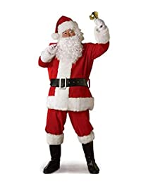 Jiuhexu Santa Claus Suit Men's Adults Costume for Christmas Holiday