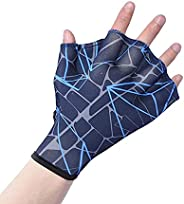 DEPHNES Nylon Swimming Gloves Aquatic Swimming Webbed Gloves Water Training Hand Webbed Hands Webbed Flippers