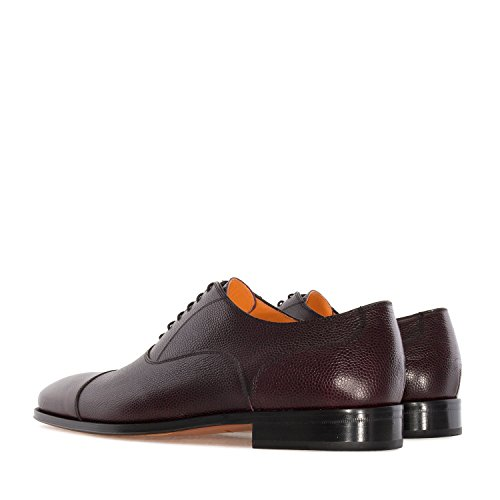 Andres Machado.5969.oxford Shoes In Leather.made In Spain.mens Grote Maten: Us M13 Tot M16 Bordeaux Bruin
