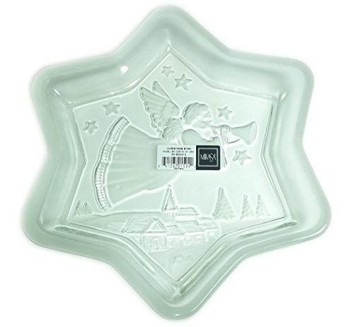 - Mikasa Holiday Crystal Cut Glass 9.25