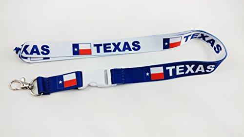 Reversible Lanyard - Texas flag reversible lanyard