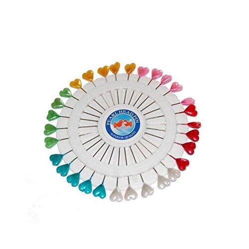 Craft pin Wheel–perni a forma di cuore. Spilli da cucito. Dasuke