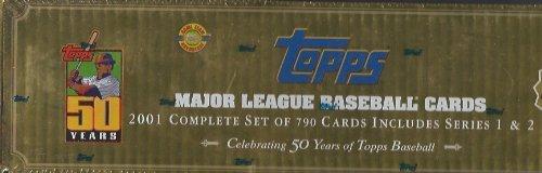 2001 Topps Baseball Factory Sealed Set Hta Gold Box Version