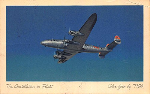Postcard TWA Trans World Airlines Constellation Airplane in Flight~115946 Constellation Airline
