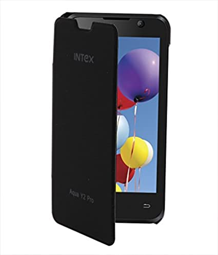 purchase cheap 811eb 8176c BRYNN Flip Cover For Intex Aqua Y2 Pro - Black: Amazon.in: Electronics