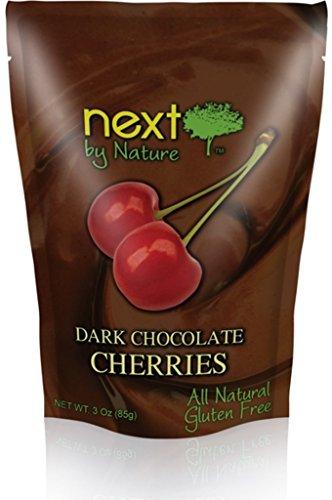 Next by Nature Natural Dark Chocolate Cherries 3 Ounce (Pack of 6) (Dark Cherries Chocolate)