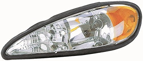 Fits 99 00 01 02 03 04 05 Pontiac Grand Am Headlight Driver Headlamp Front (Grand Am Headlight Lamp)