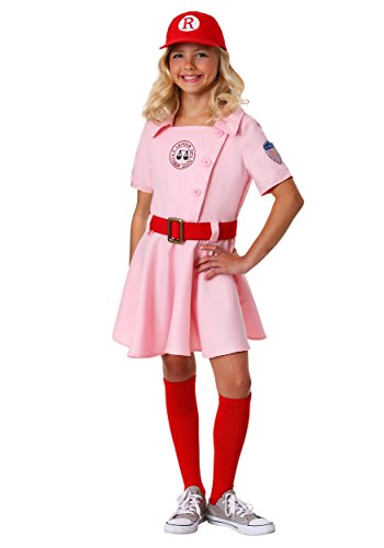 Girls A League of Their Own Dottie Costume With Hat and Sock - -