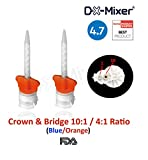 48 pcs DX-Mixer Dental Mixing Tips Crown & Bridge Blue/Orange 10:1/4:1 Ratio