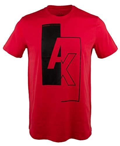 GIORGIO ARMANI Exchange Men's Slim Short Sleeve Crewneck T-Shirt-R-L Red