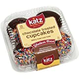 Katz Gluten Free Chocolate Frosted Cupcakes, 10 Ounce, Certified Gluten Free - Kosher - Dairy & Nut free - (Pack of 1)