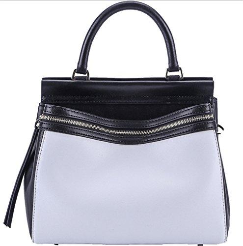 Bolsos de señora Xinmaoyuan golpeó la personalidad magnética de color hebilla hembra Sleeveless Bolso Bolso Color sólido Horizontal Suave bolsa de cremallera lateral,azul Negro