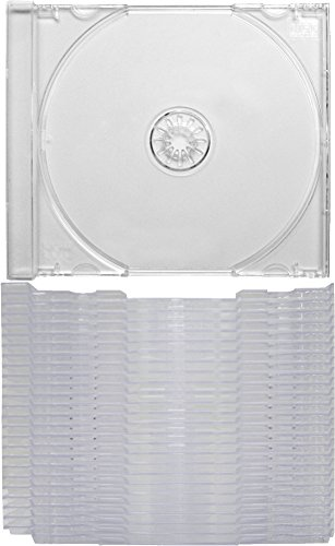 """(25) Clear Replacement CD Trays / Inserts for CD Jewel Boxes! #CDIS80CL - Fits any standard size 10mm Jewel Box, also snaps into the """"Chubby"""" Jewel Boxes!"""