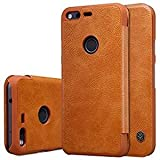 High Quality Leather Flip Cover for Google Pixel XL - Brown