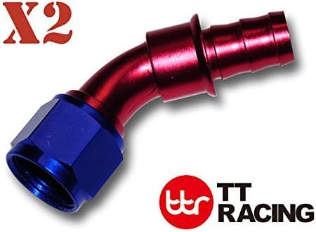 8 AN AN-8 Push Lock Fuel Line Hose Blue 20ft /& Push On Loc Fittings Kit
