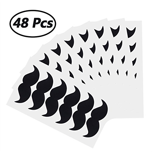 iEFiEL Halloween Mustache Costume Baby Shower Kids Party Favor Sticker Freezer Decal Wall Art Decor -