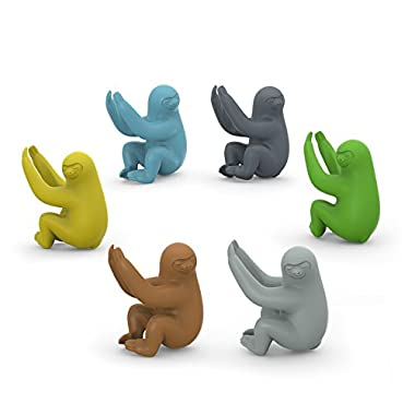 Fred & Friends SOCIAL CLIMBERS Sloth Drink Markers, Set of 6