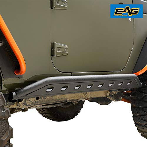EAG Tubular Side Armor Rocker Guard Rock Sliders Fit for Jeep Wrangler JK 2 Door