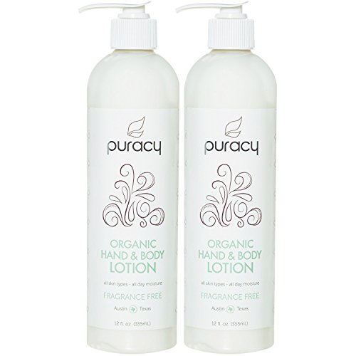 Puracy Organic Hand & Body Lotion , Fragrance Free Unscented