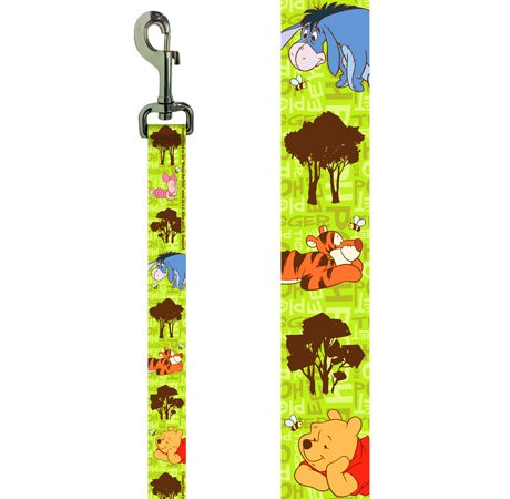 "Platinum Pets Disney 3/4"" X 6' Nylon Leash with Winnie the Pooh Design"