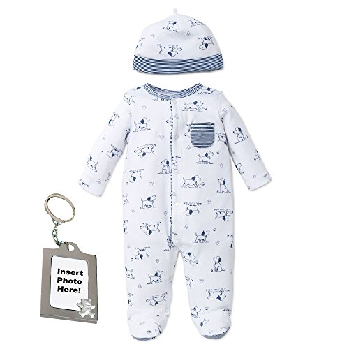 (Little Me Puppy Toile Footie Footed Sleeper Sleep N Play Pajamas - White - 9 Mth)