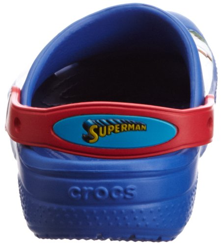 crocs Cc Superman Clog Boy Jungen Clogs Blau (Sea Blue/Red)