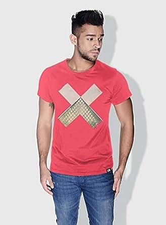 Creo Paris Louvre X City Love T-Shirts For Men - L, Pink