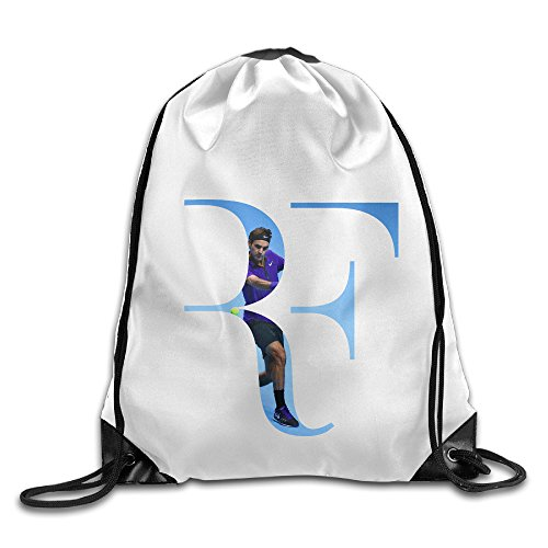 Bekey Roger Federer Logo Drawstring Backpack Sport Bag For Men & Women For Home Travel Storage Use Gym Traveling Shopping Sport Yoga Running