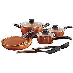 Gibson Cuisine 79577.10 Eco Friendly Hummington 10 Piece Cookware set, Copper