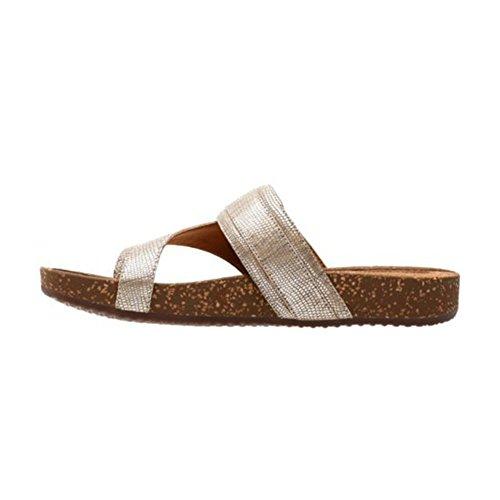 Clarks Rosilla Durham Kvinnor Sandal Ljus Guld Metalliskt Läder