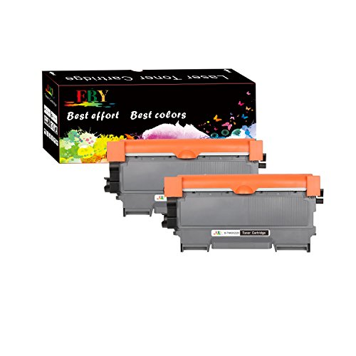 EBY Compatible Toner Cartridge Replacement, for Brother TN450, TN-450 TN 420 HL-2270DW HL-2280DW MFC-7860DW MFC-7360N HL 2230 2240 DCP-7065DN Intellifax 2840 2940 (Black, 2-Pack, High Yield)