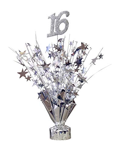 Party Deco Sweet 16 Party Centerpiece - 6 Pack ()