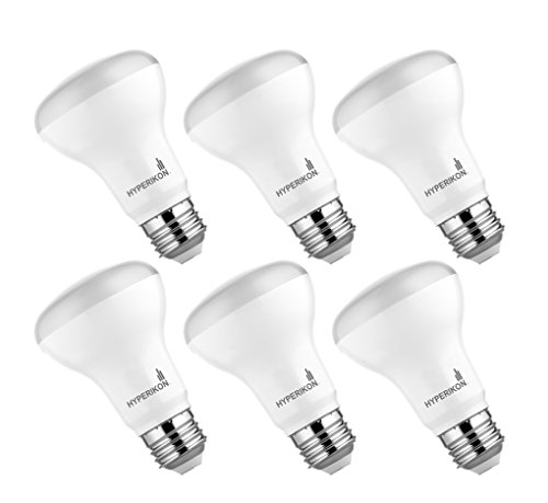 Hyperselect BR20 LED Light Bulb, 9W (40W Equivalent), 4000K (Daylight Glow), 540 lumens, Medium Base E26, Wide Flood LED Light Bulb Non-Dimmable, UL Listed - Great for Dining Room, Outdoors (6 Pack)